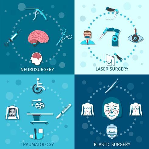 Set di chirurgia medica vettore