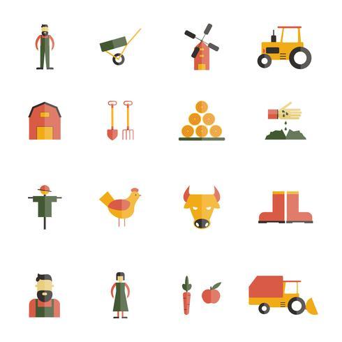 Icono de granja plana