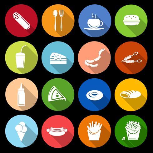 Icono de comida rápida plana vector