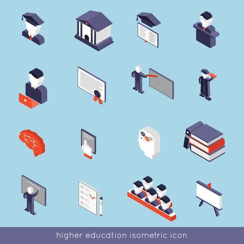 Conjunto isométrico de educación superior