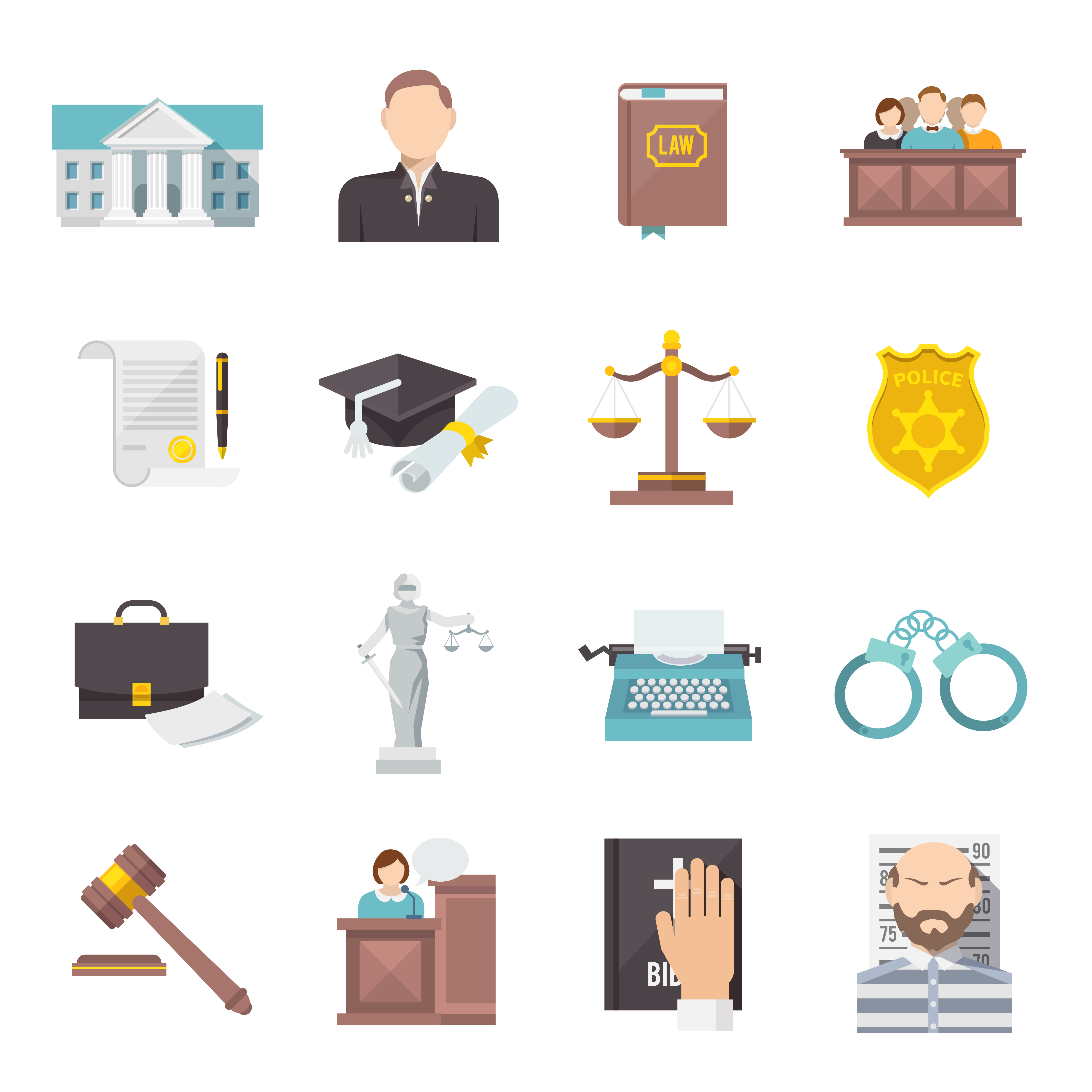 Law Icon Flat - Download Free Vectors, Clipart Graphics ...