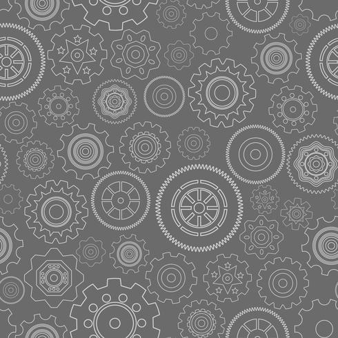 Dark seamless gear wheels pattern