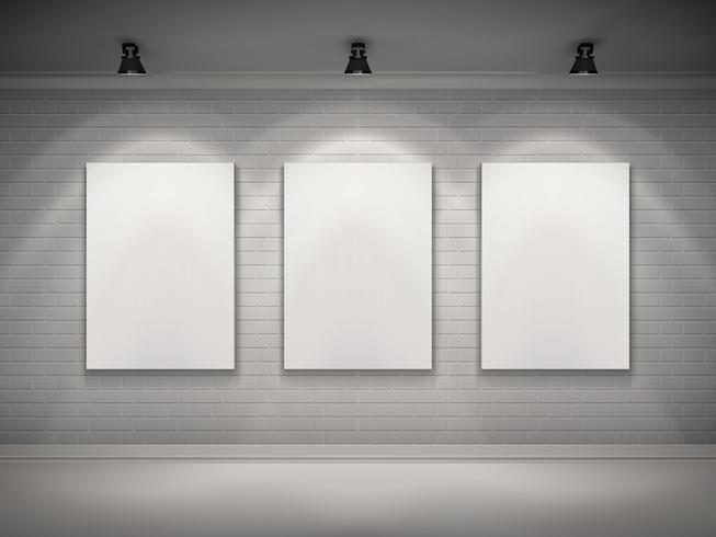 Galería Interior de fondo vector