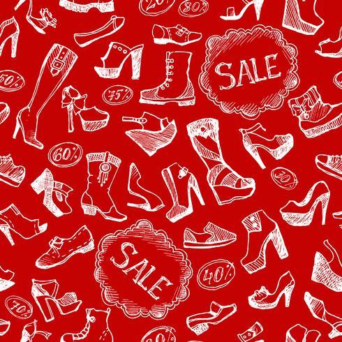 Fond de chaussures sans couture vecteur
