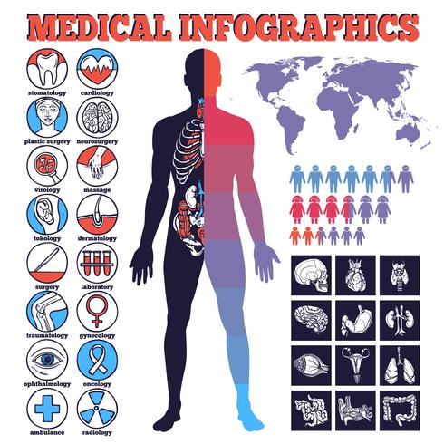 Medizinische Infographik Set