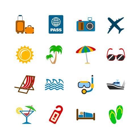 Vakantiereizen ontwerpelementen