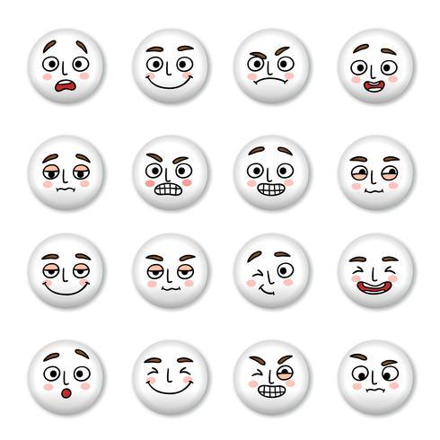 Conjunto de iconos de caras sonrientes