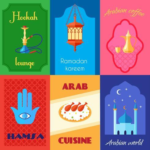 Poster di cultura araba vettore