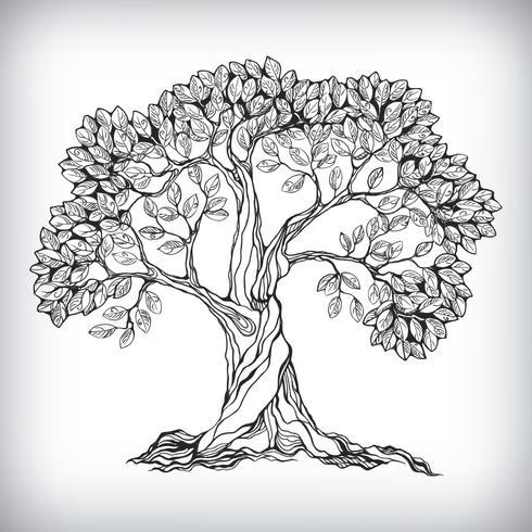 Simbolo dell'albero disegnato a mano