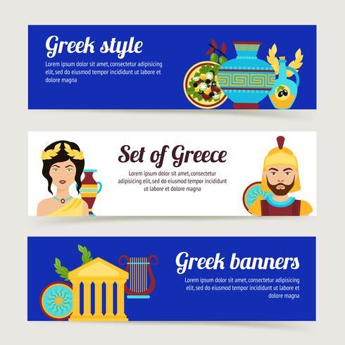 Greece banner set