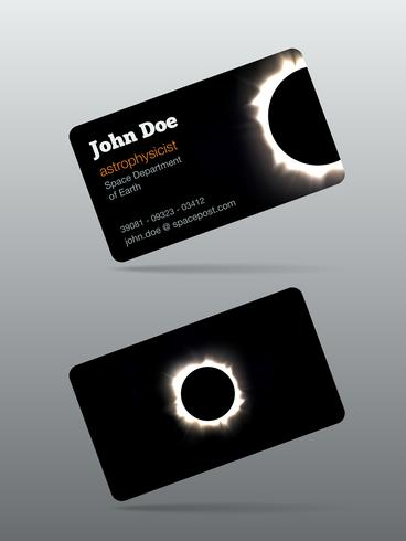 cartão telefônico eclipse vetor