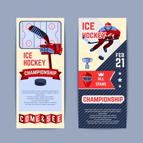 hockeybanners instellen vector