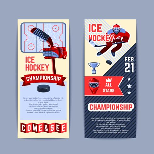 Ensemble de bannières de hockey
