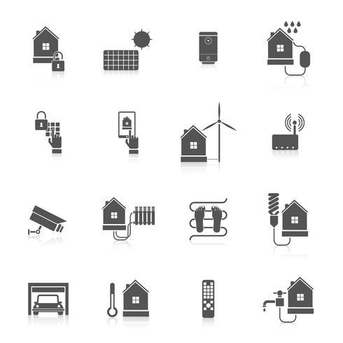 jeu d'icônes maison intelligente