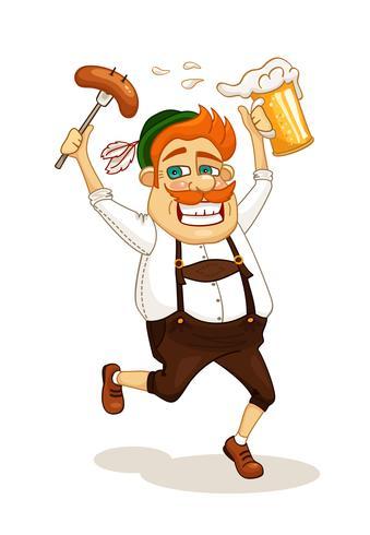 homme de fête de la bière