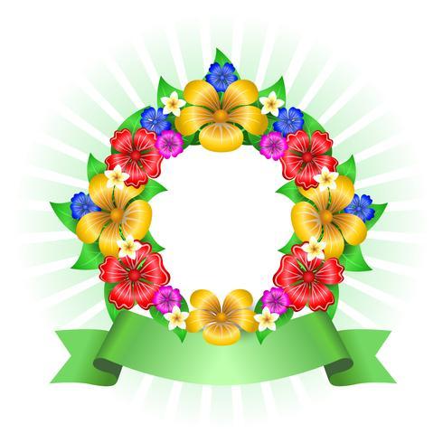 Tropisch bloemen krans frame