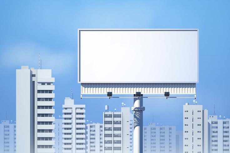 Outdoor Billboard Realistisch vector