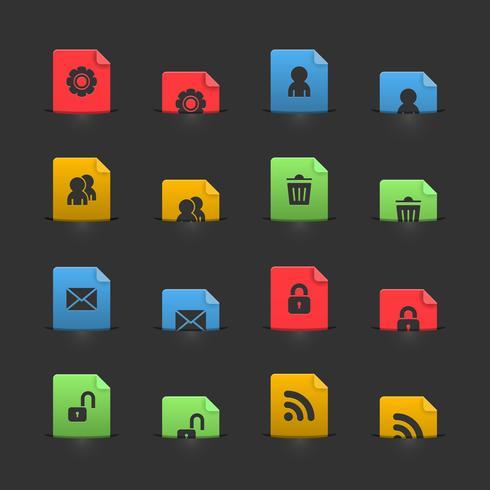 Sitio web elementos de la interfaz de usuario en colillas móviles