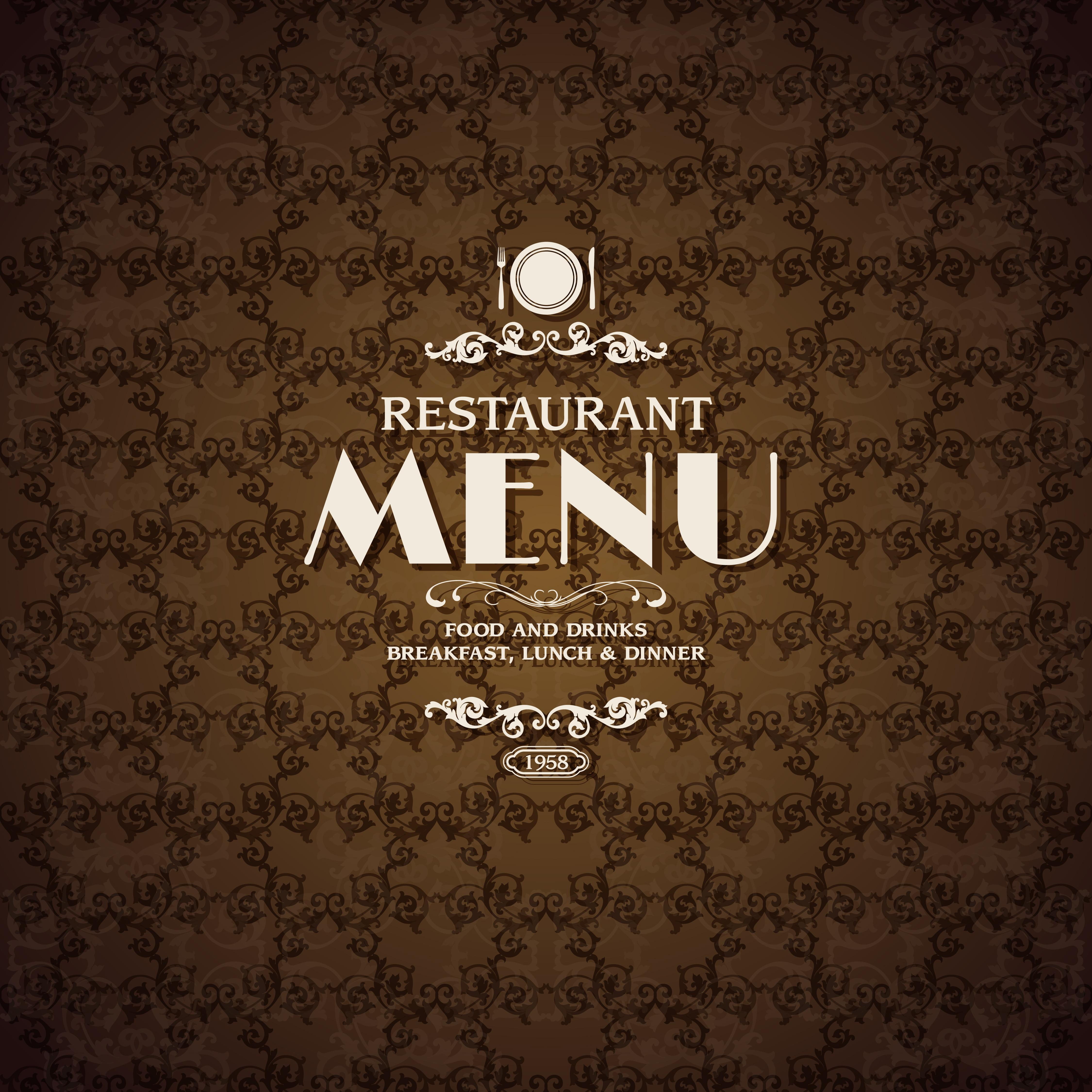 Restaurant Cafe Menu Cover Template Download Free Vectors Clipart Graphics Vector Art