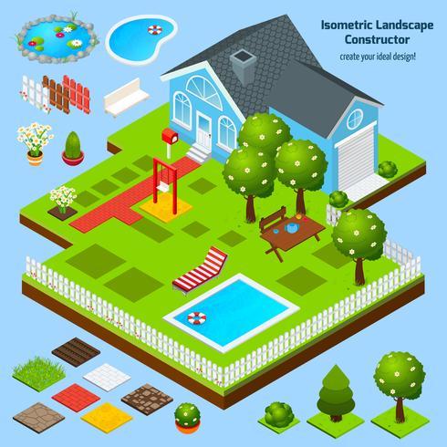 Diseño del paisaje isométrico