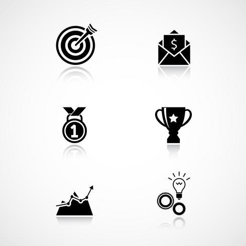 Set di icone di raggiungimento obiettivo