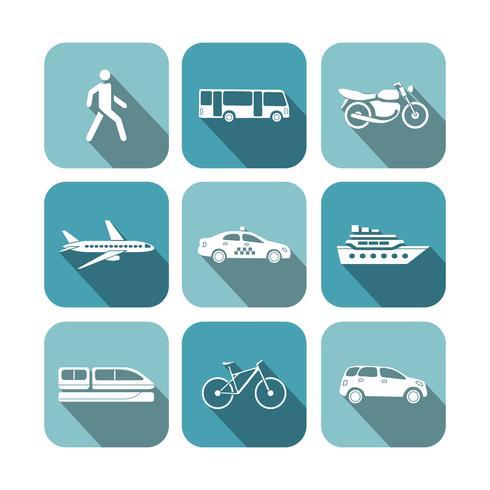 Transportation icons set