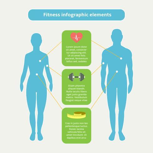 Elementi di infografica per fitness e sport vettore