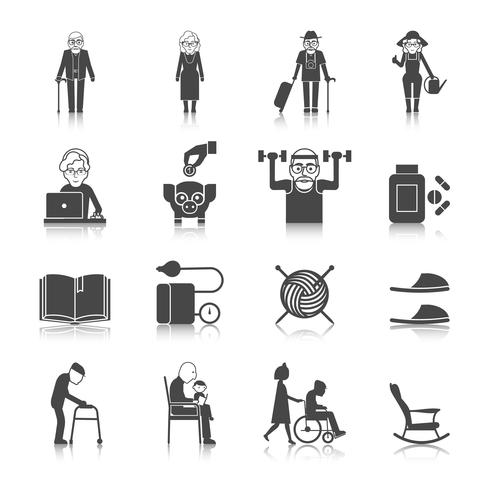 Senior Lifestyle Set vector