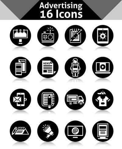 Werbe-Icons schwarz