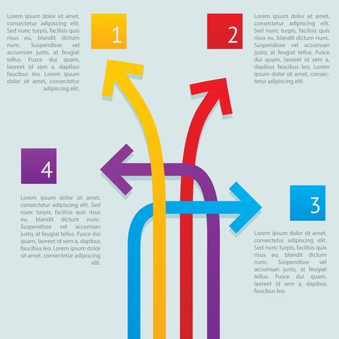 arrows ways Infographics vector