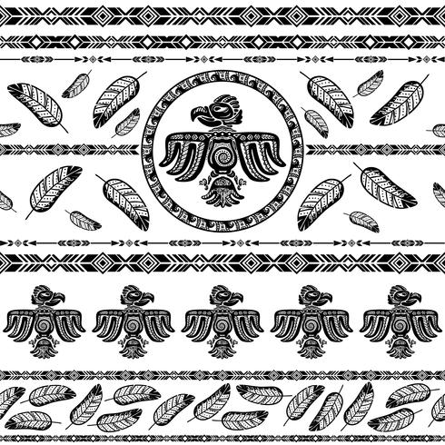 Indian tribal pattern background