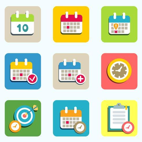 iconos de calendario y eventos