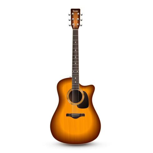 Guitarra realista isolado