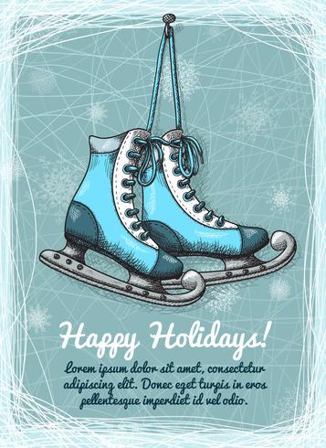 Skate vakantie winter uitnodiging