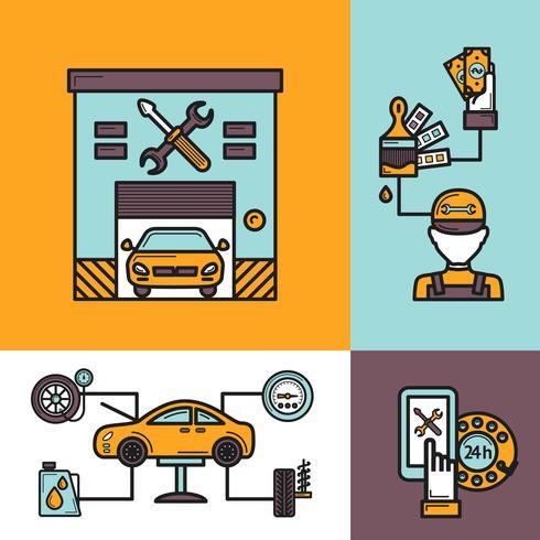 auto service koncept vektor