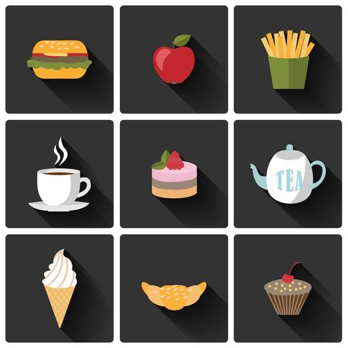 Voedsel pictogrammen instellen