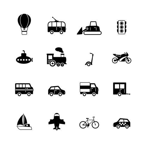 Colección de pictogramas de transporte.