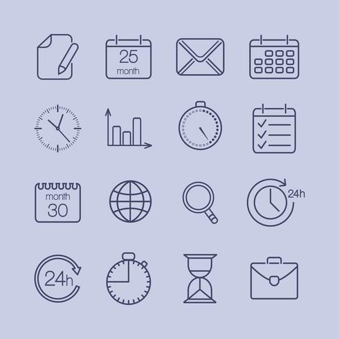 zakelijke tijd pictogrammen
