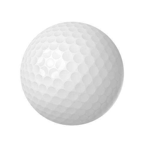 golfbal over wit
