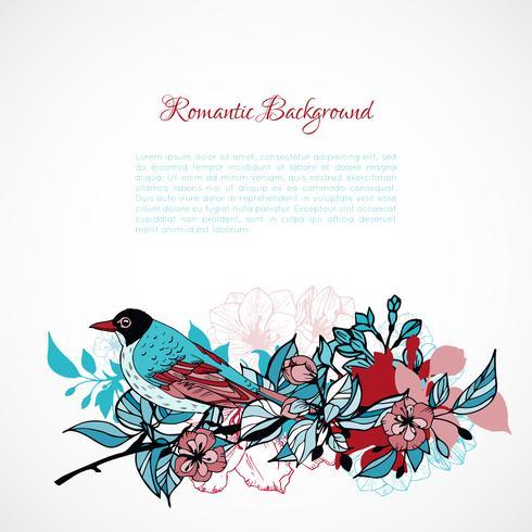 Fundo romântico floral