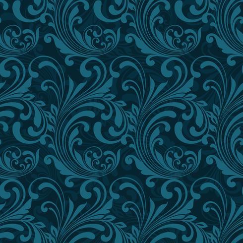Senza cuciture ornamentale blu scuro