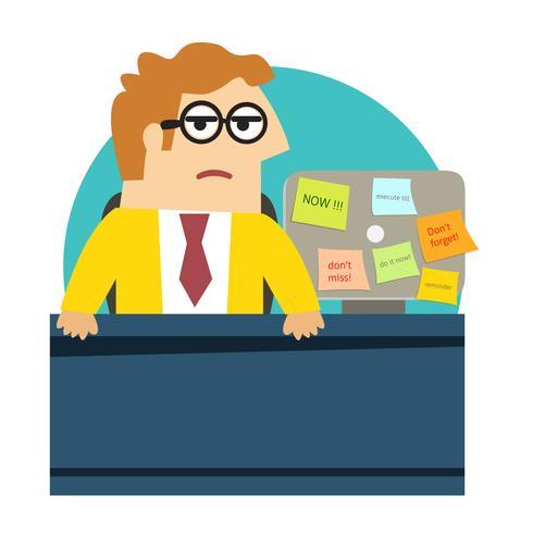 Preoccupato arrabbiato impiegato alla scrivania