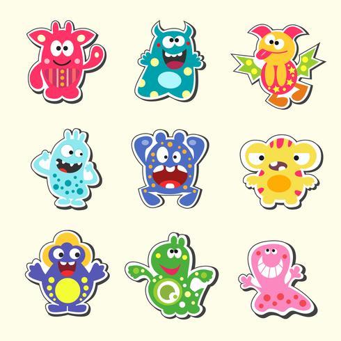 conjunto de monstruos de dibujos animados