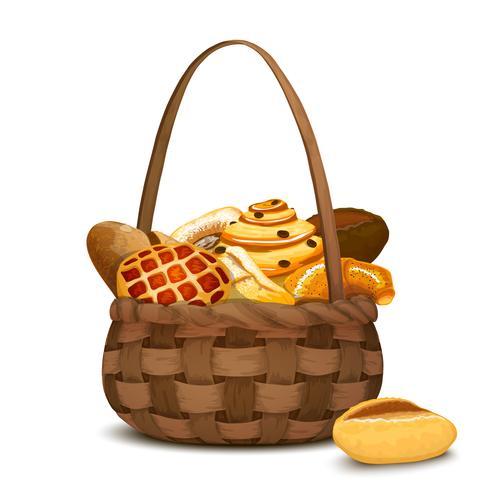 Boulangerie dans panier