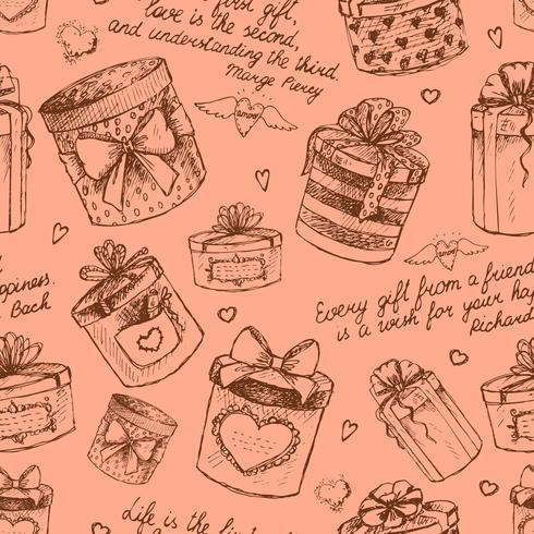 Nahtlose Geschenkboxen Muster