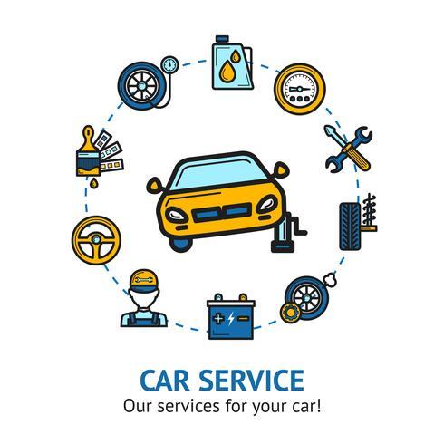 Illustrazione di servizio auto vettore