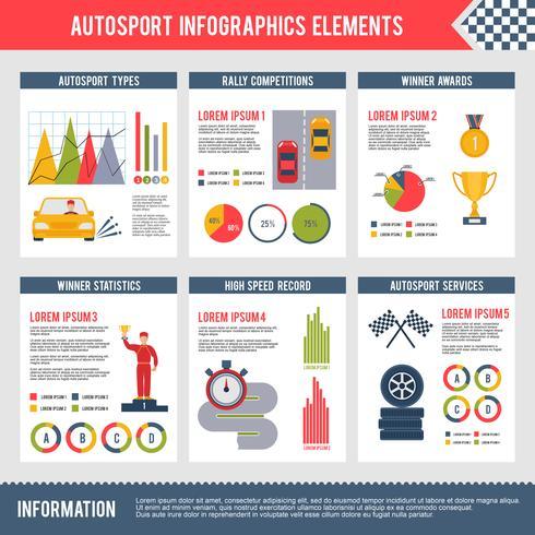 Infographie Auto Sport vecteur
