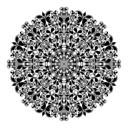 Dekoratives rundes Muster vektor