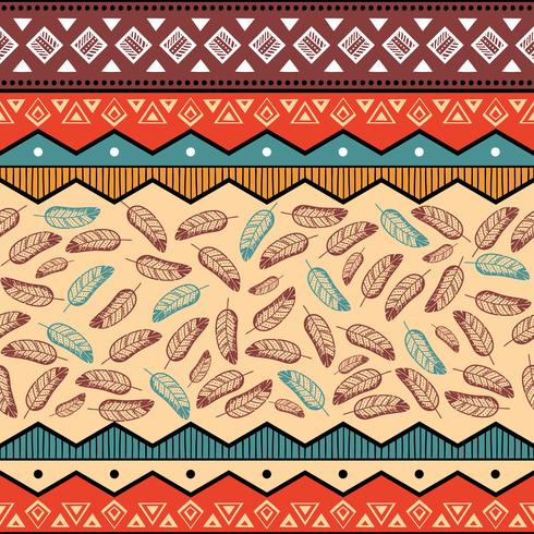 Ethnic tribal pattern background