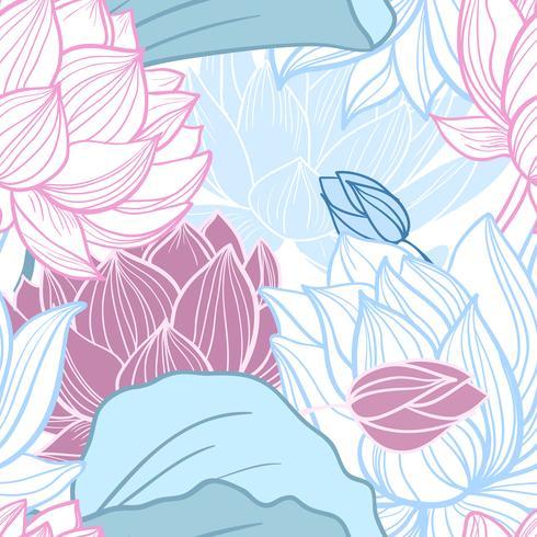 lotus sömlösa mönster